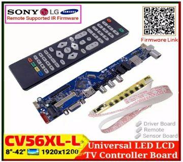 CV56XL-L Universal LED LED TV Controller Board 8-42 inch Monitor  Maximum Resolution  1920x1200
