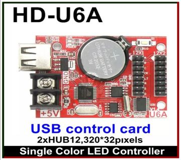 HD-U6A Single Color LED Controller used in P10 LED Module for Digital Signboard