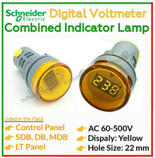 AC Voltmeter + Signal Indicator Lamp (Yellow)