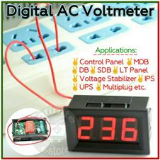 """Digital AC Voltmeter 0.56"""" display"""