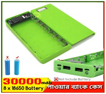 Power Bank Case with LCD Screen Circuit 8 x 18650 Battery Case