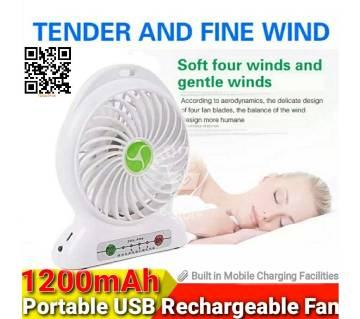 LED Mini USB Portable rechargeable fan 18650 li ion Rechargeable Battery Outdoor Camping office USB Cooler fans