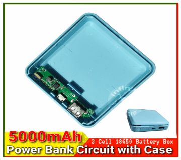 Power Bank Casing with Circuit 3 x 18650 li-ion Battery 5000mAh