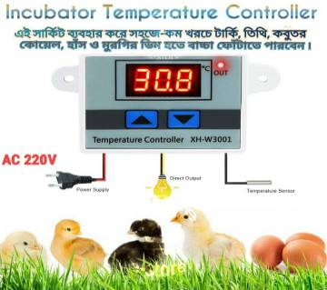 XH-W3001 W3001 Temperature Controller Digital LED AC  220V Thermometer Thermo Controller Switch Probe Max 10A NTC10K replace W1209 Incubator Temperature Controller
