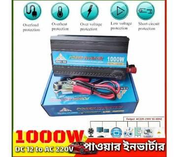 Power Inverter 1000W DC 12V to AC 220V use Solar,  Cars 12V Battery