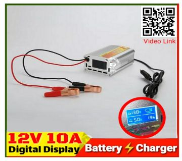 Smart Battery Charger 12V 10A Digital LCD Display