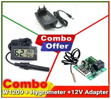 W1209 Hygrometer + 12V Adapter + Incubator
