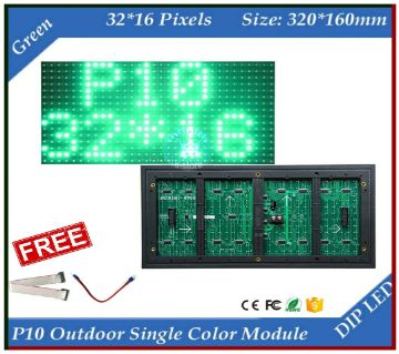 P10 LED Panel Single Color For Digital Signboard (Green)