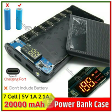 Power Bank Case with Circuit 7 Cell LED