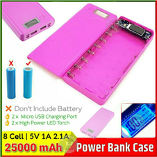 power bank case with circuit 8 Cell LCD