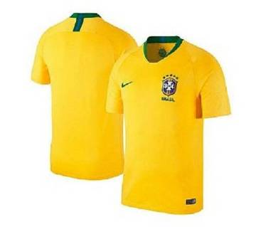 Brazil Home Jersey FIFA World Cup 2018 - Half Sleeve