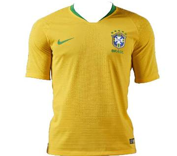 Half Sleeve Brazil Home Jersey FIFA World Cup 2018