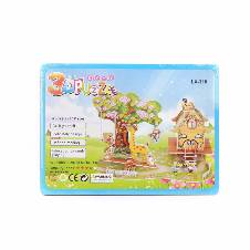 3D DIY Garden Bungalow Puzzle Children Hand-make Cute Jigsaw Toys Baby Early Educational Toy Parent-child Games As Gift