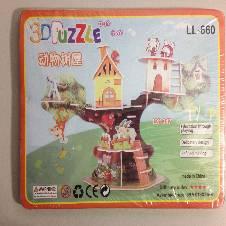 3D Puzzle Animal Tree House
