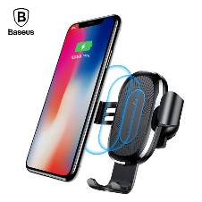 Baseus Car Mount Qi Wireless Charger Pad Car Holder Stand