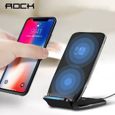 ROCK W3 Duil Coil Qi Wireless Charger 10W for iPhone 8,8plus,iPhone x,samsung galaxy S8,S8plus,note 8