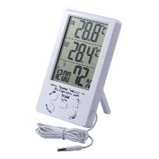 Indoor Outdoor Thermometer With Hygrometer Clock