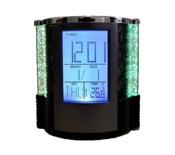 ডিজিটাল পেন হোল্ডার ক্লক with Temperature Display