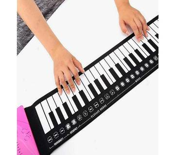 Portable 49 Keys Flexible Roll up Piano Electronic Soft Keyboard Gift for Kid