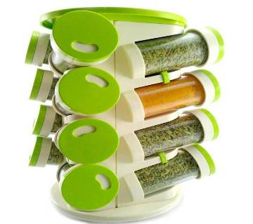 Trueware 16-in-1 Revolving Spice Rack And Cutlery