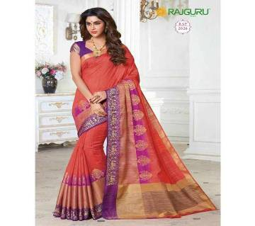 Rajguru Collection তসর সিল্ক কাতান শাড়ি