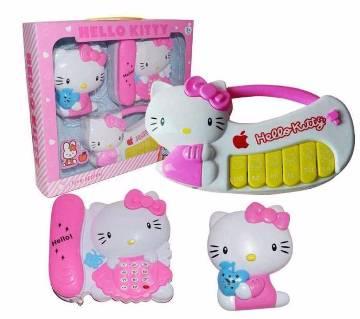 3 in 1 Hello Kitty মিউজিক টয় সেট