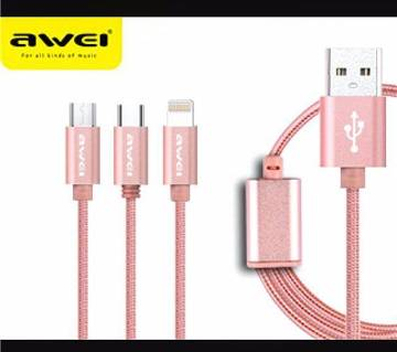 AWEI CL970 3in1 multi charging cable
