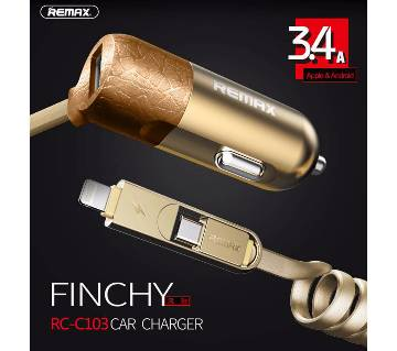 Remax Finchy 3.4A Car Charger