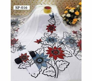 Unstitched Cotton Screen Print Salwar Kameez SP016 - Multicolor