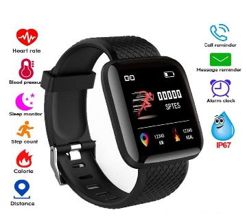 116 Plus Smart watch Bracelets Fitness Tracker Heart Rate Step