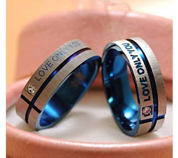 Love Couple Ring Crystal Mount Lovers