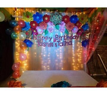Glitter birthday banner