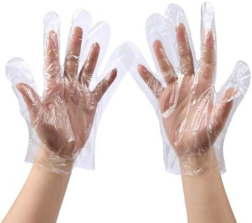 Disposable Poly Gloves- 100 Pcs (Pair)