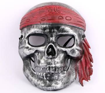 3D PIRATE MASK- SILVER