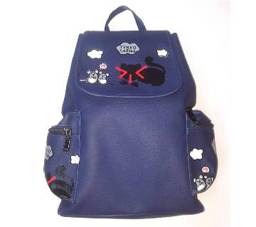 Girls Backpack Navy Blue