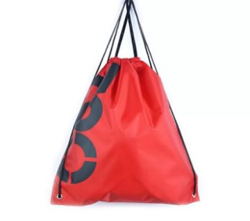Drawstring Backpack- Red T90