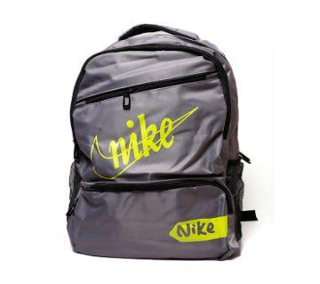 Nike Printed Backpack- Grey & Neon Green