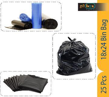 25 Piece 18 x 24 Inch Large Capacity Trash Bag Black Bin Bag