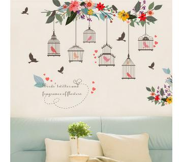 Birds Cage Wall Sticker