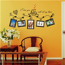 Love Photo Frame Wall Sticker