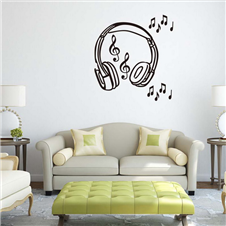 Headphone Wall Sticker