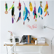 Retro Feather Wall Sticker