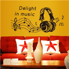 Delight in Music Wall Sticker