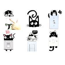 Cute Animal Switch Board Sticker