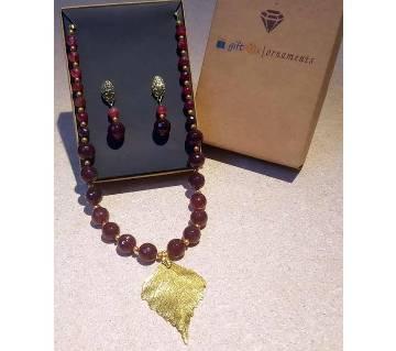 Maroon Necklace Set