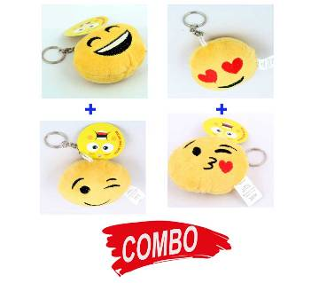 VINTAGE EMOJI KEY RING (4 Different Type) Combo Offer