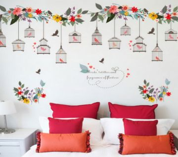 Retro Wall Sticker- Birds Cage