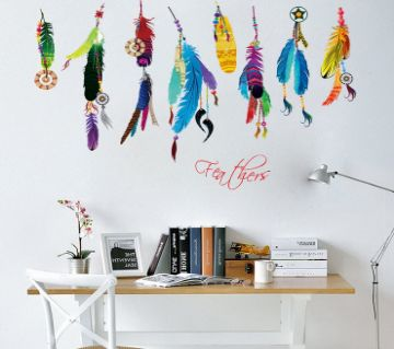 Retro Wall Sticker- Retro Feather