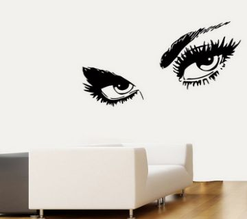 Retro Wall Sticker- Sexy Eyes