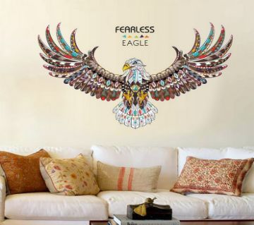 Retro Wall Sticker- Fearless Eagle